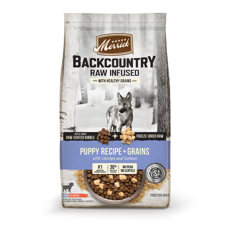 Merrick Backcountry Raw Infused with Healthy Grains Puppy Recipe Dry Dog Food