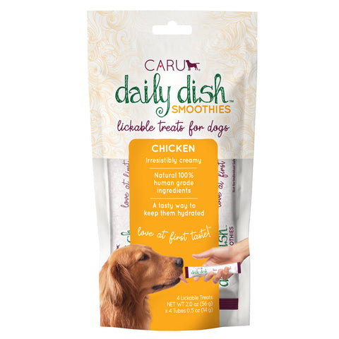 Caru Daily Dish Smoothie Chicken Flavor Lickable Treat for Dogs