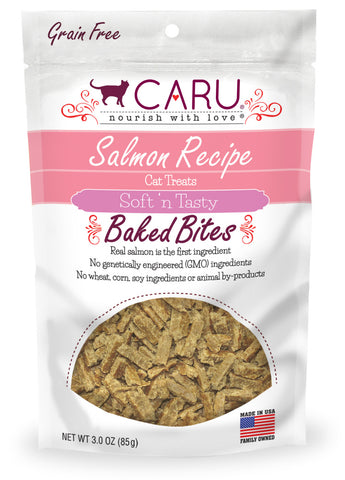 Caru Soft 'n Tasty Salmon Recipe Bites For Cats