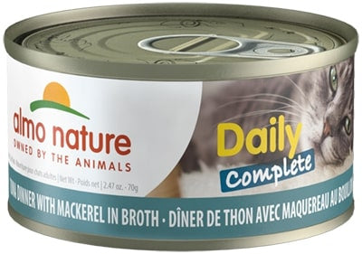 Almo Nature Daily Complete Cat Tuna with Mackerel in Broth Canned Cat Food
