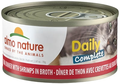 Almo Nature Daily Complete Cat Tuna with Shrimp in Broth Canned Cat Food