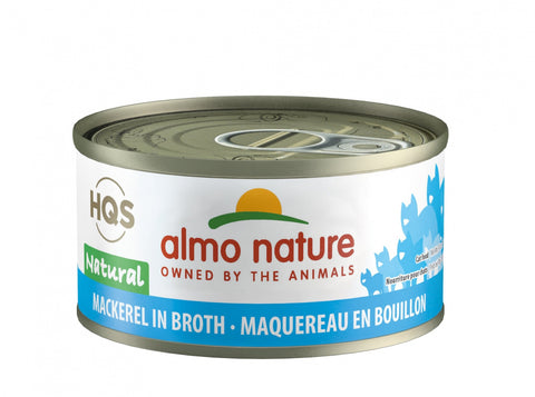 Almo Nature HQS Natural Cat Grain Free Additive Free Mackerel Canned Cat Food