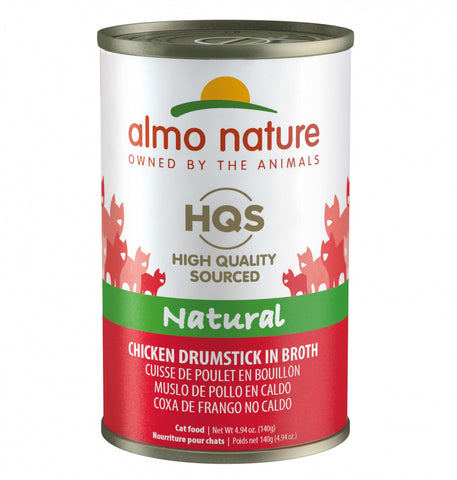 Almo Nature HQS Natural Cat Grain Free Additive Free Chicken Drumstick Canned Cat Food