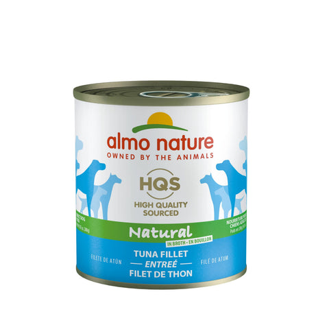 Almo Nature HQS Natural Dog Grain Free Additive Free Tuna Fillet Canned Dog Food