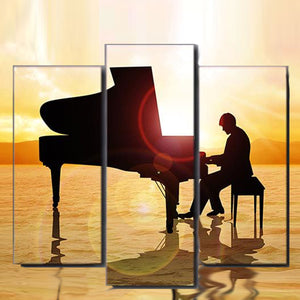 Relax with piano music in beach sunset on your wall