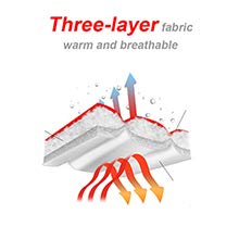 Keep warm with a triple lining