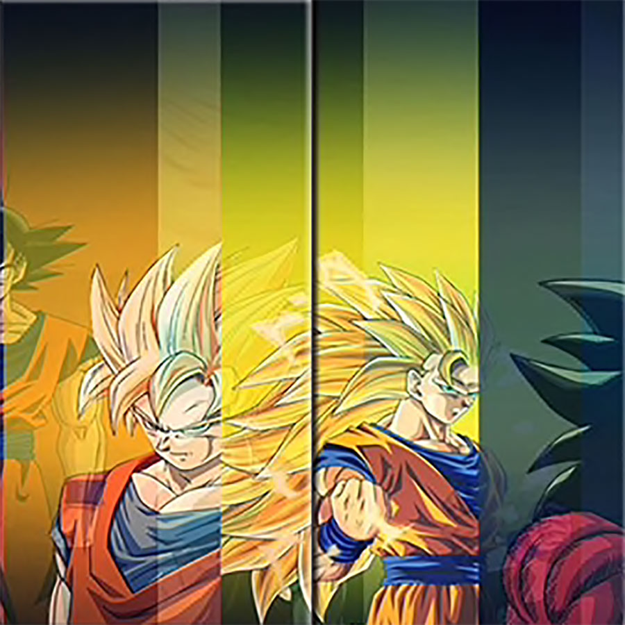 Dragon Ball Character 5-Panel Canvas Wall