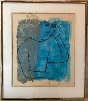 "Ben Shahn ""In Rooms Withdrawn and Quiet"" Mid-Century Art Lithograph"