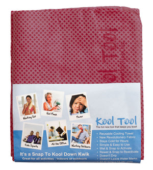 Kool Tool Evaporative Snap Cooling Towel to Quickly Cool Down for Sports, Workout, Fitness, Gym, Yoga, Pilates, Golf, Travel, Camping, Hot Flashes & More