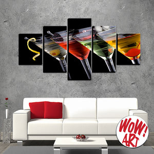 Martinis on Your Wall – 5-Panel Canvas WOW! Art