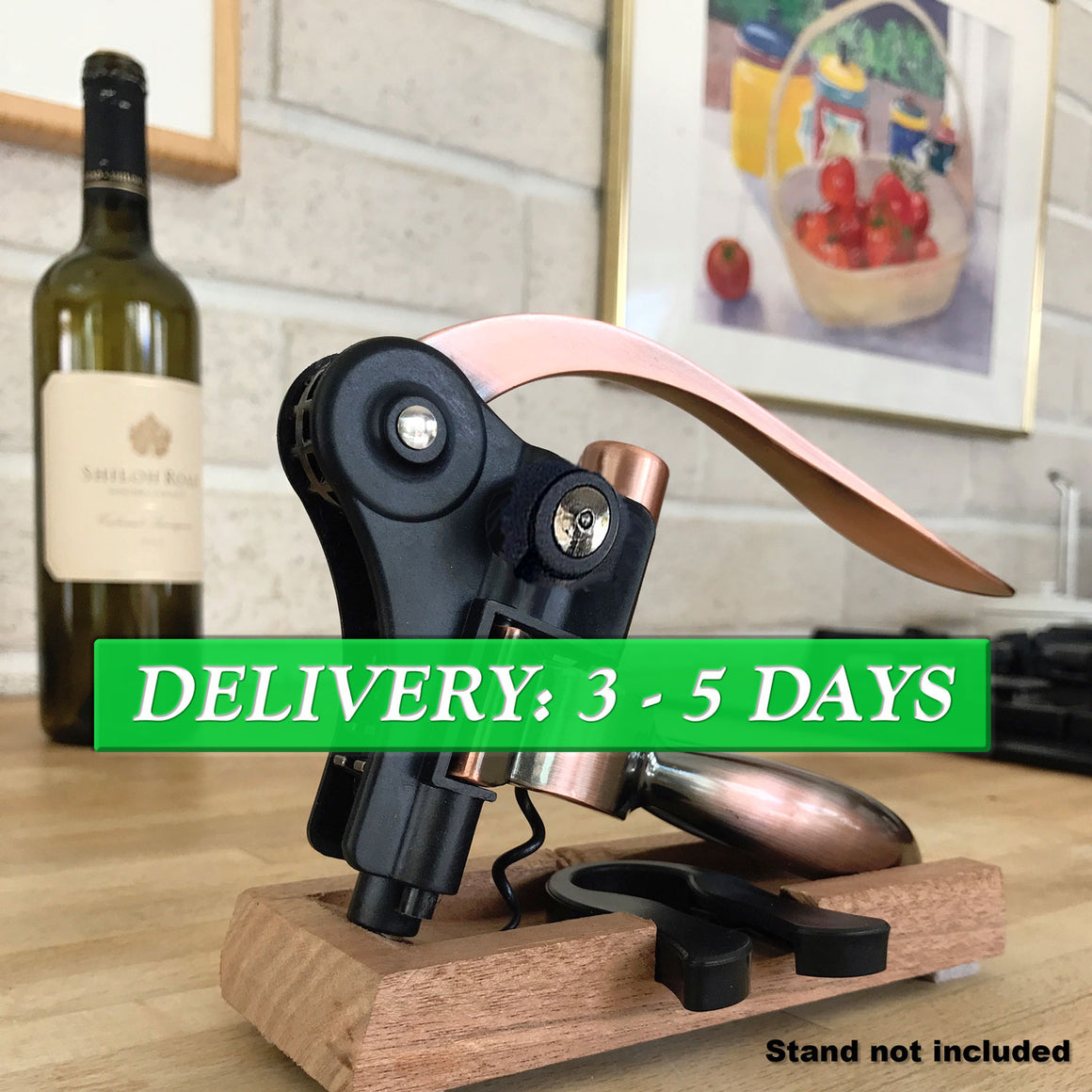 Trader Dave's Rabbit Wine Opener – Opens as easy as 1 - 2 - 3 - 4!
