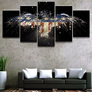 American Eagle/Flag Abstract 5-Panel Canvas Wall Art