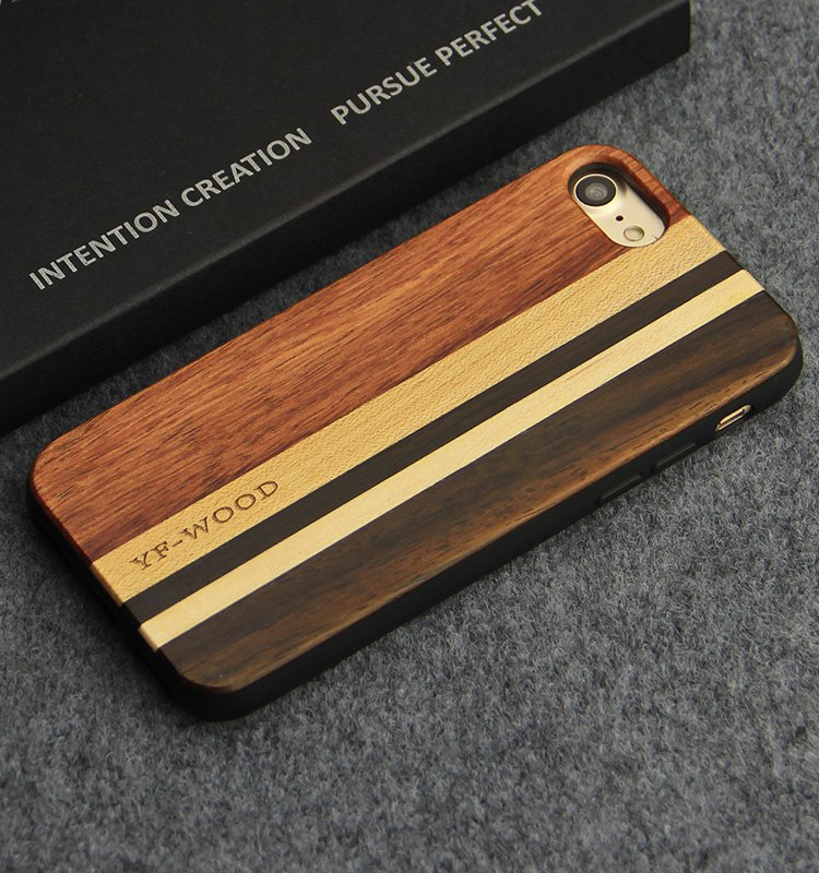 Natural Wood Phone Case For iPhone 7, 8, 8 – Maple, Rosewood, Ebony