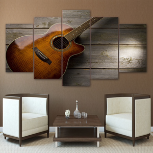 Classic Guitar 5-Panel Canvas Wall Art