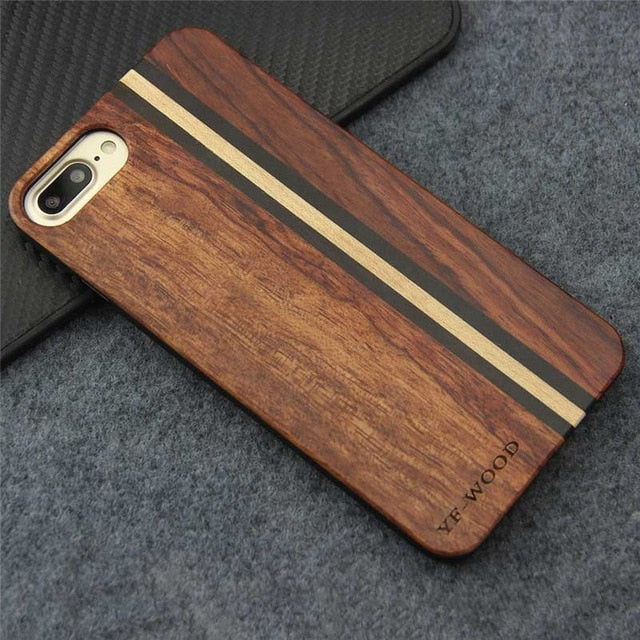 Real Wood Apple iPhone Case – X – Maple, Rosewood, Ebony