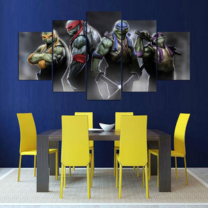 Teenage Mutant Ninja Turtles Tableau 5-Panel Canvas Wall Art