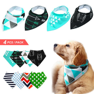 Dog Bandanas – Colorful Collection For Dogs – Set of 4 For Your Medium-size K9 Friend (Style set 2)