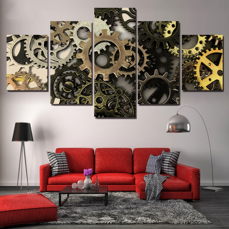 Metal Gear Abstract 5-Panel Canvas Wall Art