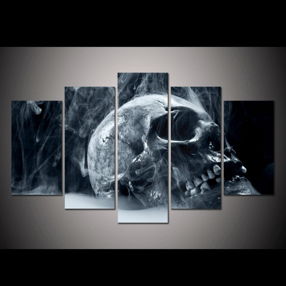 Halloween Horror Skull 5-Panel Canvas Wall Art