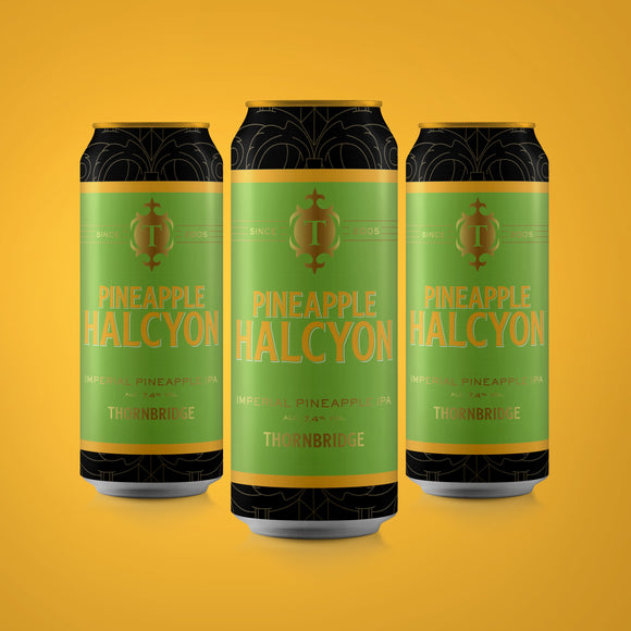 Pineapple Halcyon case, 7.4% Imperial IPA