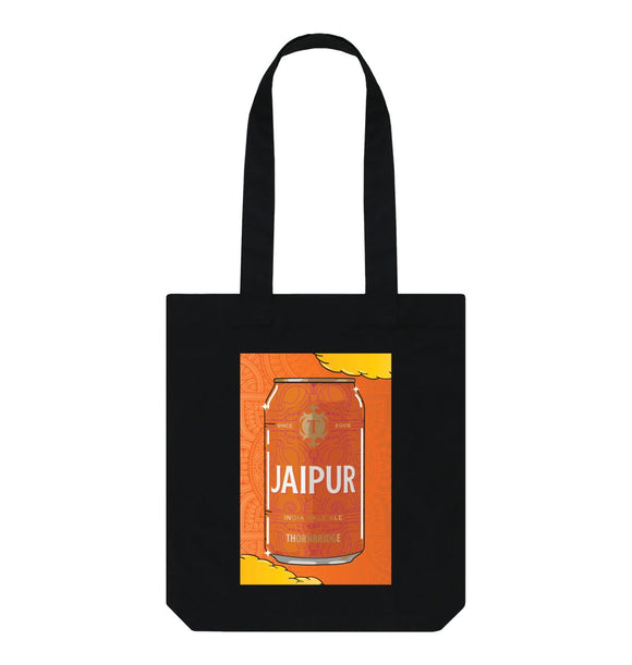Black Jaipur Can Tote
