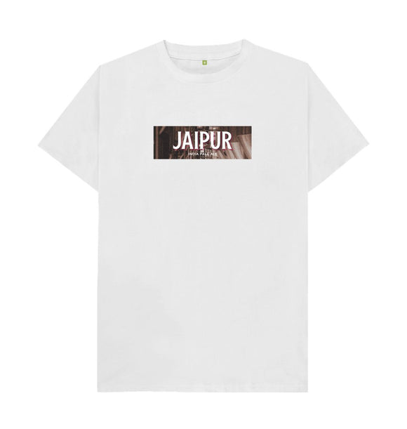 White Jaipur boxed logo t shirt