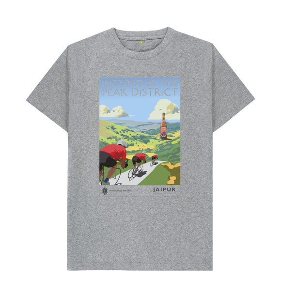 Athletic Grey Jaipur Inspired by the Peak District retro t shirt