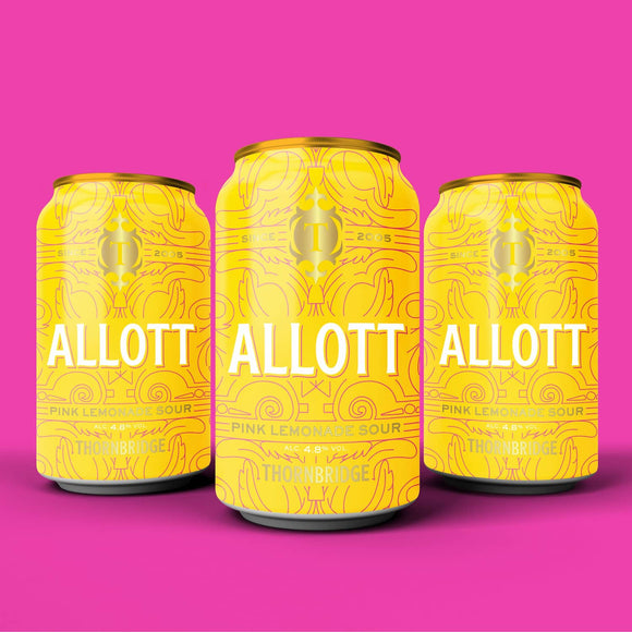 Allott, 4.8% ABV Pink Lemonade Sour 12x330ml cans