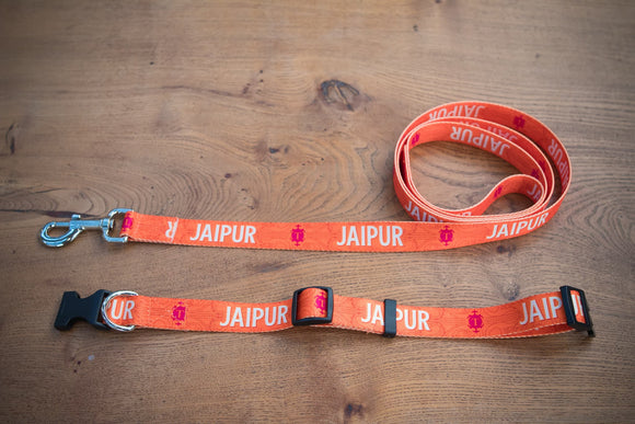Jaipur - Dog lead and collar set