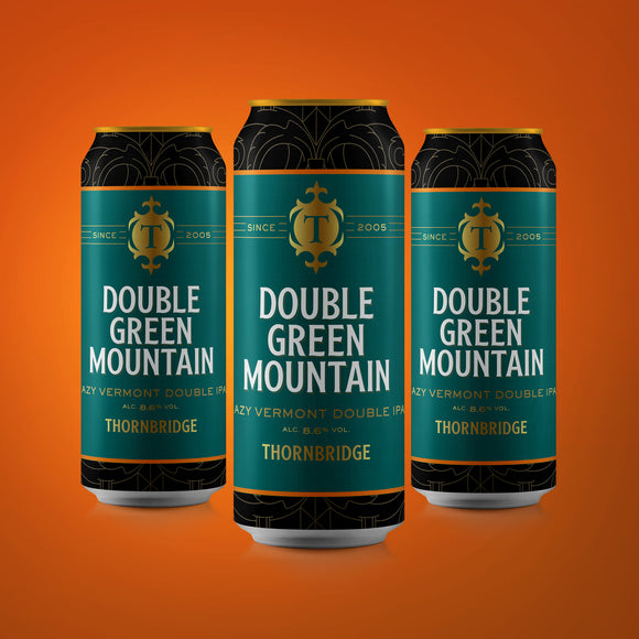 Double Green Mountain ABV 8.6% Hazy Vermont Double IPA 12x440ml cans