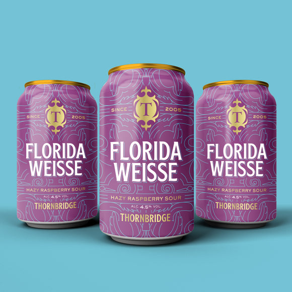 Florida Weisse, 4.5% Hazy Raspberry Sour