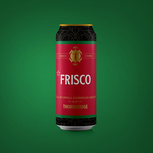 Frisco California Common Beer 5.0% ABV 440ml can