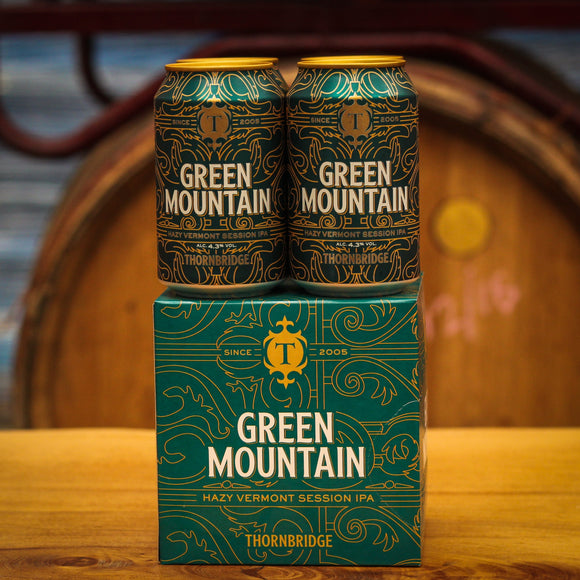 Green Mountain 4x330ml Can Pack, 4.3% Vermont Style Session IPA