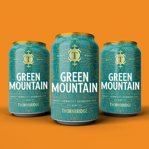 Green Mountain 4.3% Vermont Style Session IPA 12 x 330ml Can
