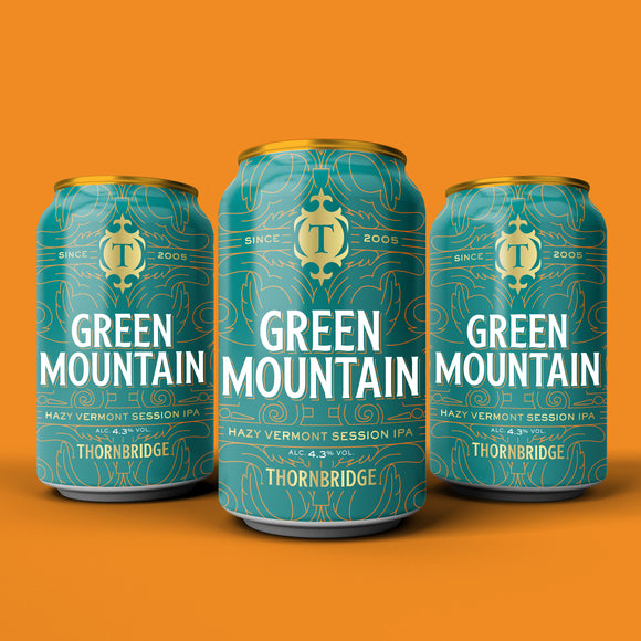 Green Mountain, 4.3% Vermont Style Session IPA 12 x 330ml case