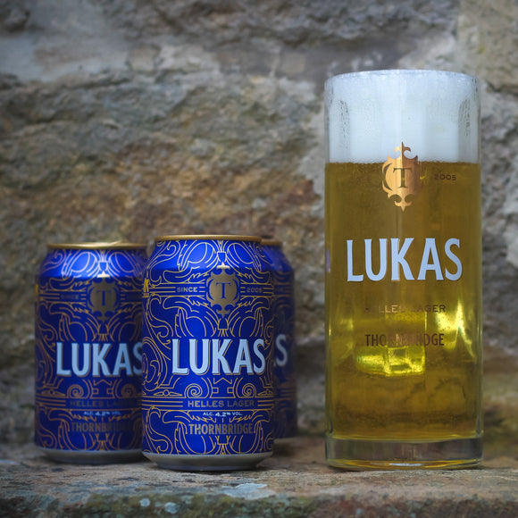 The Lukas Mega Pack, 20x330ml Cans, 2 Lukas Stein & Cool Bag
