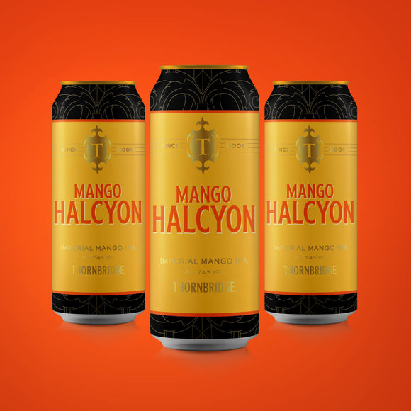 Mango Halcyon case, 7.4% Imperial IPA