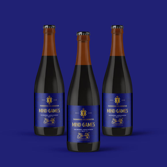 Mind Games classic Saison-style beer – ABV 8.5% / 3 x 375ml bottles