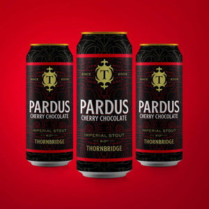 Pardus Cherry Chocolate, 8.0% Imperial Stout 12x440ml can