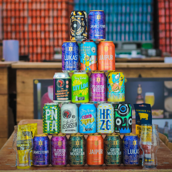 Peakender at Home - 20x330ml cans, glassware, snacks.....