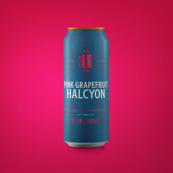 Pink Grapefruit Halcyon, 7.4% Imperial IPA 440ml can