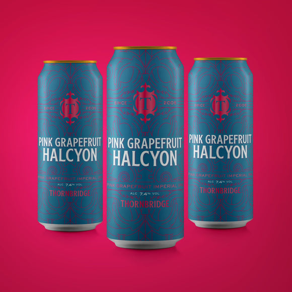 Pink Grapefruit Halcyon, 7.4% Imperial IPA 12x440ml cans