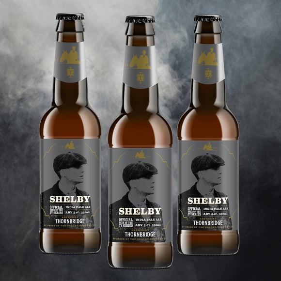 Shelby Large Case - The official beer of the TV series : 24 x 330ml bottles 5% IPA