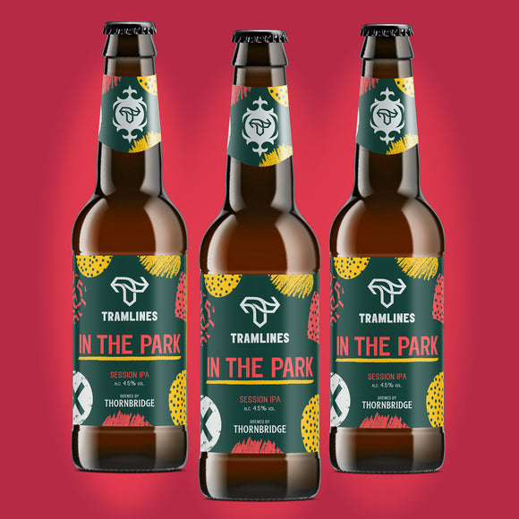 In the Park : Tramlines collaboration limited edition session IPA ABV 4.5% / 12 x 330ml bottle
