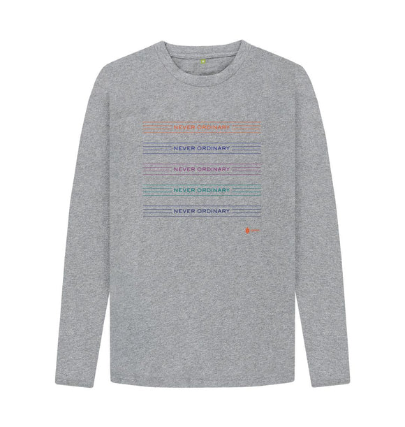 Athletic Grey Never Ordinary Long Sleeve Tee
