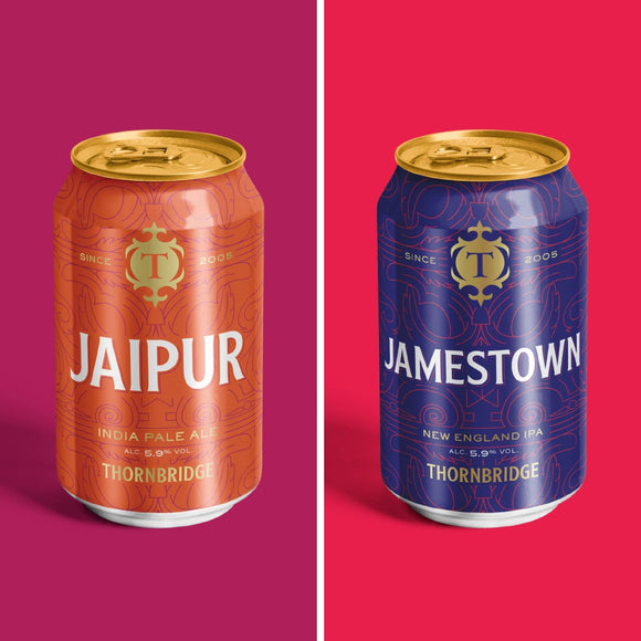 Jamestown and Jaipur East vs West IPA's mega case 24 x 330ml cans