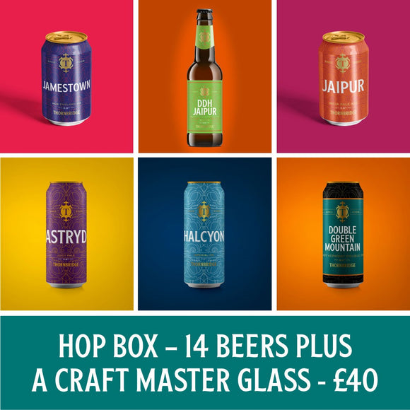 The Hop Box 14xBeers / 1xCraft Master Glass : 8x330ml, 6x440ml