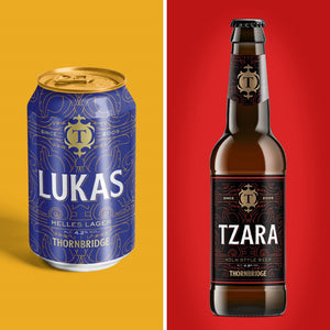 The Lager Pack, Lukas 8 x 330ml Cans, Tzara 8 x 330ml bottles
