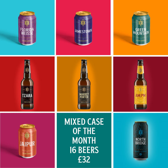 October Mixed Case of the Month - 16 Beer Case 14 x 330ml / 2 x 440ml
