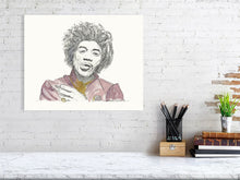 Jimi Hendrix (Giclee) by Susan Erwin Prowse